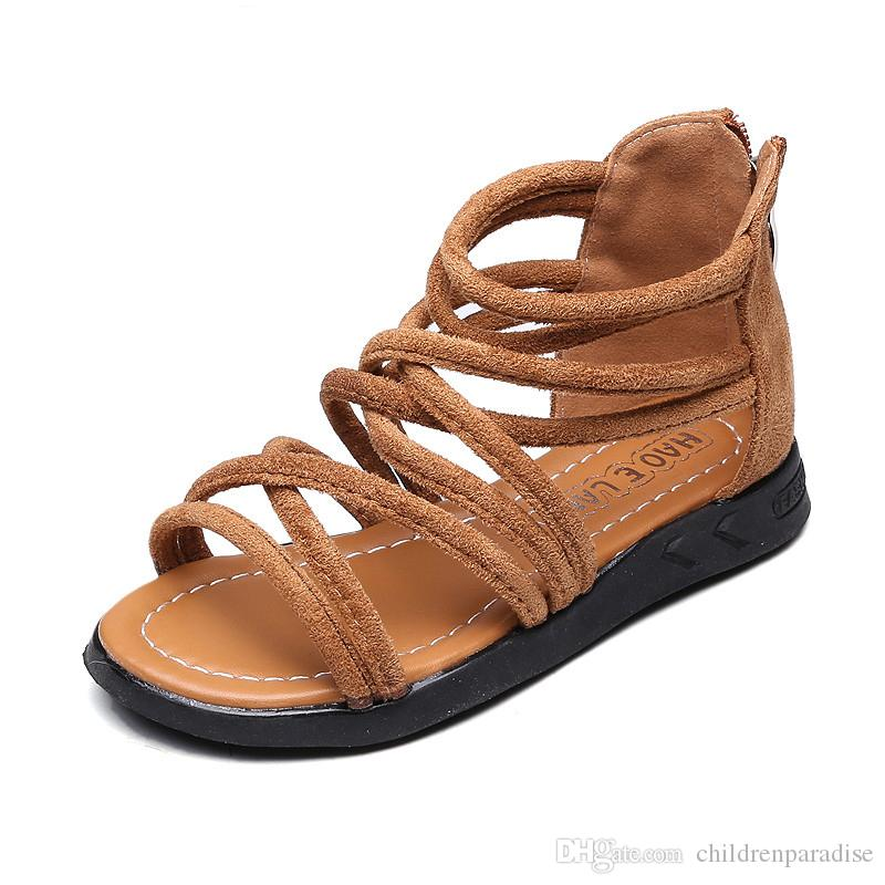e23c958e49b03 Little Girls Gladiator Sandals Girl Summer Shoes Baby Princess Shoes Kids  Gladiator Sandals Zip Toddler Kids Sandals