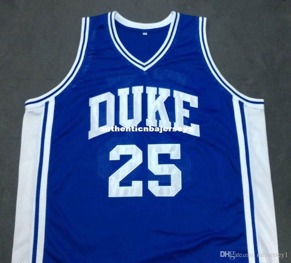 Cheap custom ART HEYMAN DUKE Devils Blue Basketball Jersey Embroidery Stitched Customize any size and name