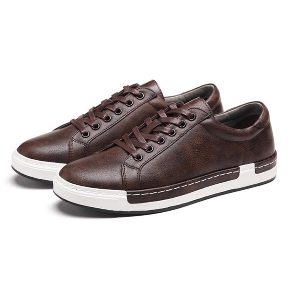 ab980512 Compre Hombres De Calidad De Moda Oxfords Zapatos Casuales Al Aire Libre  Con Cordones Zapatos De Goma Pisos Sólidos Mocasines Transpirable Cómodo  Calzado ...