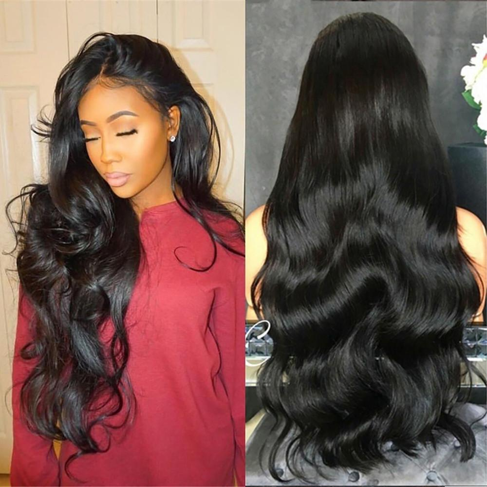 70cm Long Curly Wig Black Natural Party Wig Female Long Wavy Hair