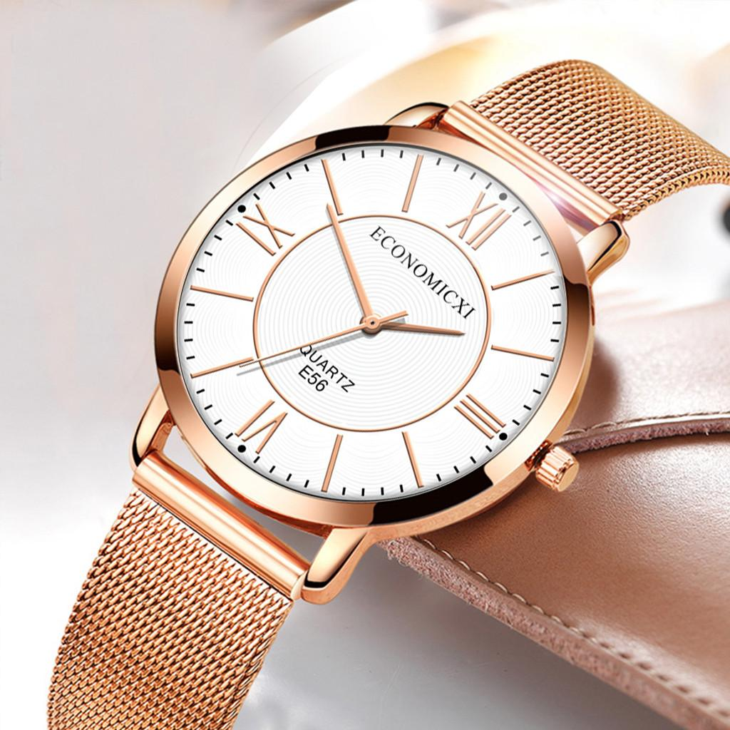 Luxury Women Watches Scale Dial Ladies Quartz Wristwatch Rose Gold Mesh Belt Strap Fashion Gift Clock Party Reloj Mujer w50