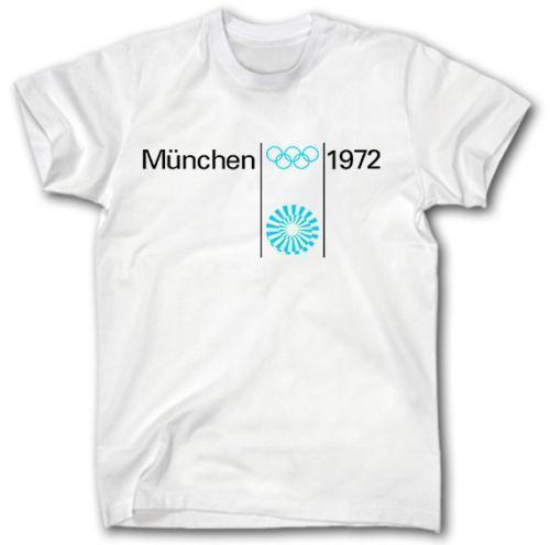Munich 1972 Olympic Spiele T Shirt S Xxxl Retro Deutschland Munchen Sport 2018 Neue Mode T Shirt Marke Hip Hop