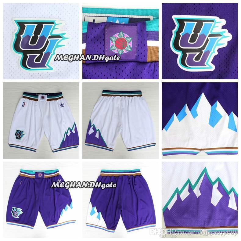 new style f304b 94222 Men jazz Utah Retro Donovan Mitchell Pants Mitchell Short Grayson Allen  Breathable Sweatpants Team Classic Sportswear Wear Short
