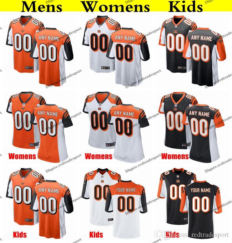 27a7729f Customize Cincinnati Mens Womens Kids Bengals Jonah Williams 85 Tyler  Eifert 55 Burfict 97 Atkins 25 Bernard 7 Dunlap Football Jersey
