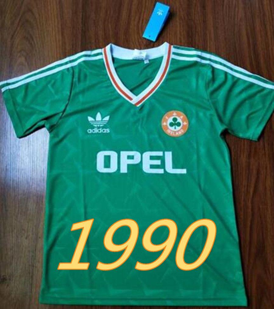 ec0aec569 2019 Retro 1990 1992 Ireland World Cup Soccer Jerseys Home Green Ireland  National Team Classic Jersey Vintage Irish Sheedy Maillot Football Shirt  From ...