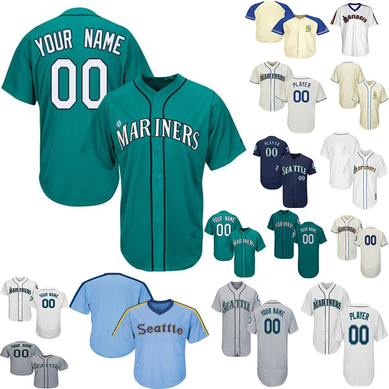 pick up bcf4b 6ae89 Customized Seattle Mariners Baseball Jerseys Mens Women Youth Jersey Ken  Griffey Jr. Jersey Edgar Martinez Any Name Number