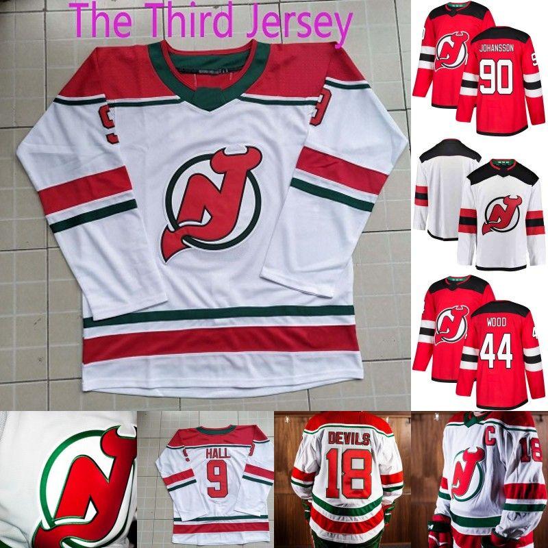 bb5a7f1e3 New Jersey Devils Heritage Jersey 13 Nico Hischier 35 Cory Schneider ...