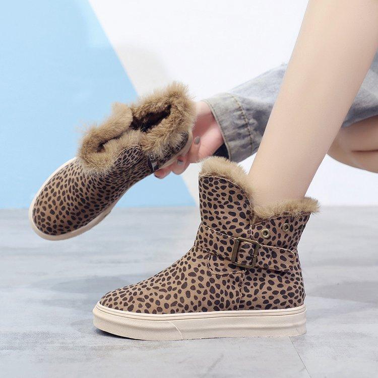 00941d60a Compre Botas De Mujer 2018 Martin Botines Zapatos Mujer Estilo Coreano  Botas De Algodón Invierno Marcas Mujer Calcetín Genuino Leopardo De Peluche  A  39.88 ...