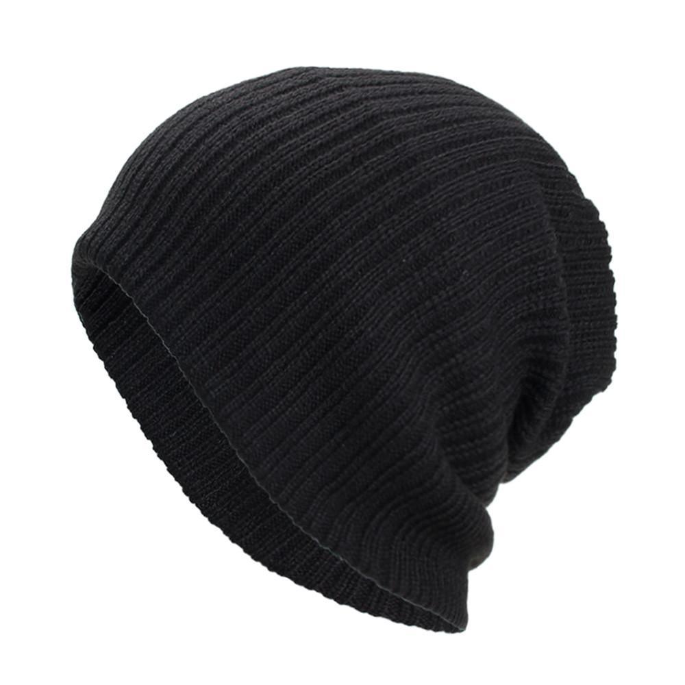 6810ef2d86f 2019 Women Men Warm Baggy Weave Crochet Winter Wool Knit Ski Beanie Skull  Caps Hat From Superfeel