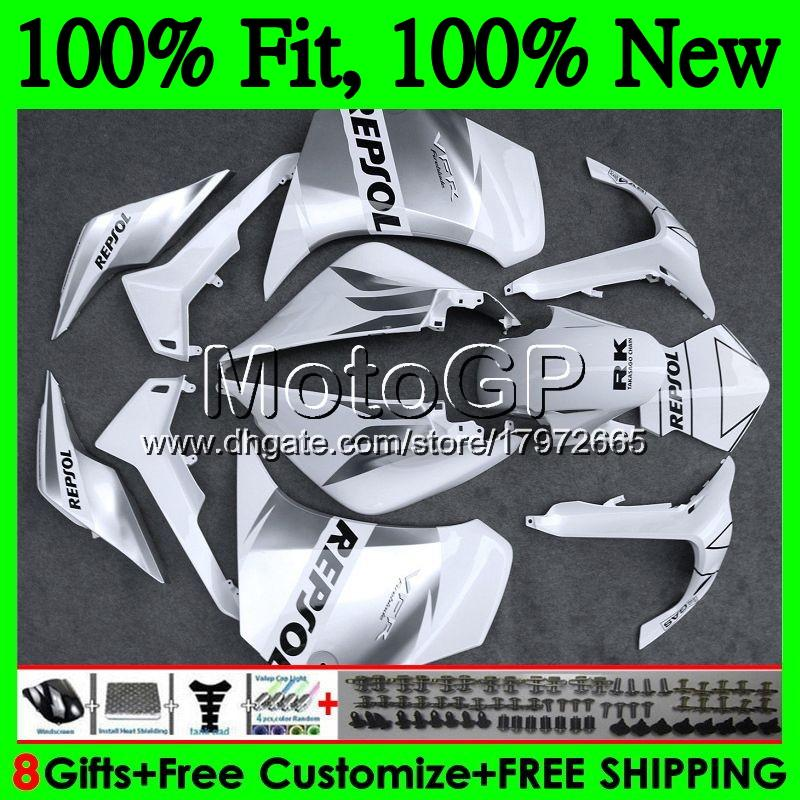 Repsol White für HONDA VFR1200RR VFR 1200 RR 10 11 12 13 66GP2 VFR-1200 VFR 1200RR VFR1200 2010 2012 2013 Verkleidung Karosserie