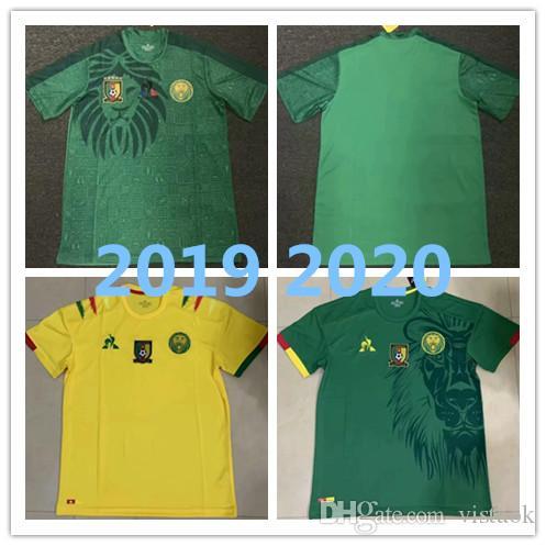 new arrival 71654 45b0f 2019 2020 Kamerun Fußball-Trikot 19 20 Kamerun Home Blue # 9 Eto o # 10  ABOUBAKAR Fußball-Shirt Nationalmannschaft Fußball-Uniform