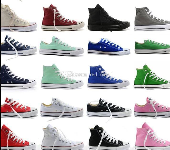 ece782a17c5 Compre Tamanho Grande 35 46 Canvas Sapatos De Skate Grande Crianças Meninos  Meninas Das Mulheres Dos Homens Unisex Alta Top   Low Top Clássico Skate  Casual ...