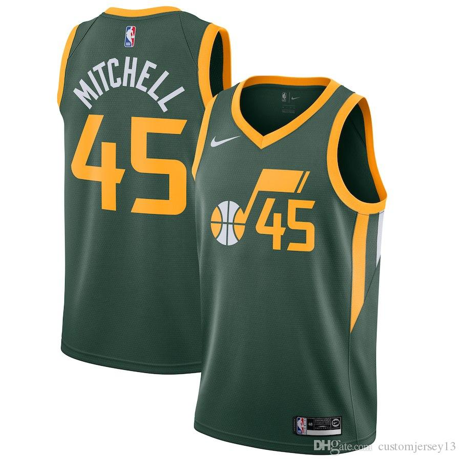 77301e520d1 ... coupon mens utah jazz 45 donovan mitchell green 2018 19 swingman jersey  earned edition jersey jersey ...