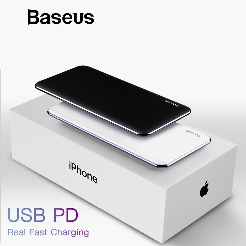 new style 698bf e7971 USB PD Fast Charging Power Bank For iPhone Xs Xs Max XR 2018 X 8 8 Plus  Powerbank 3A Quick Charge USB Type C Power Bank