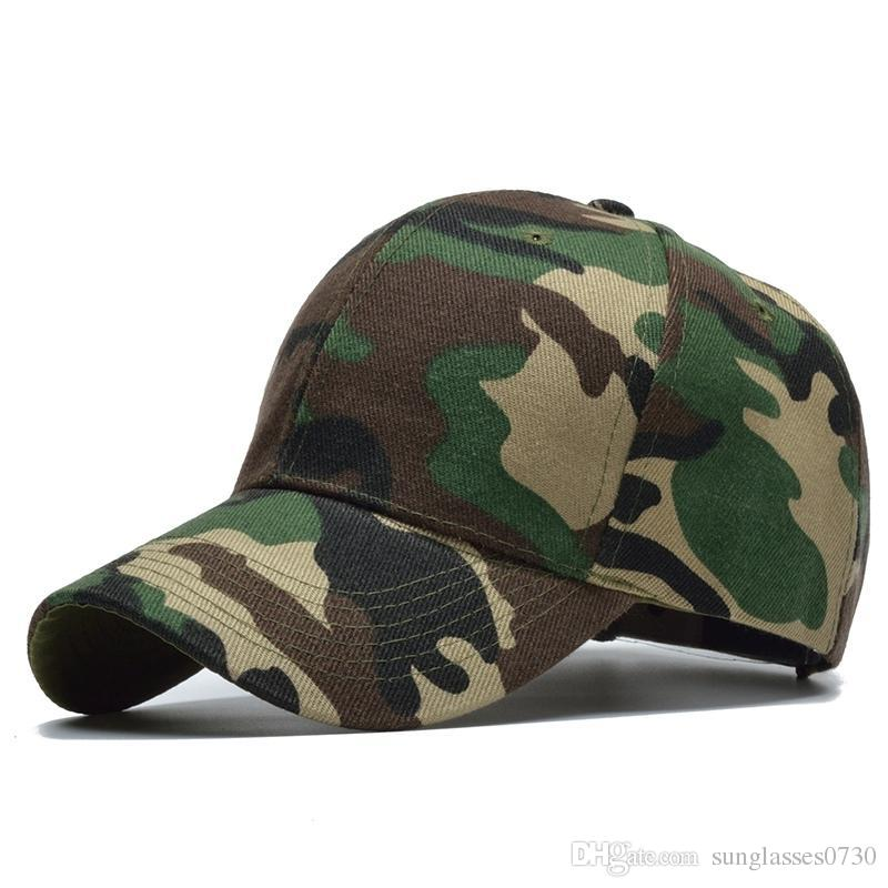 4e1c3494b70a Hombres Mujeres Ejército Camuflaje Camo Cap Hat Escalada Gorra de béisbol  Caza al aire libre Pesca Desierto Sombrero Selva Airsoft Cap