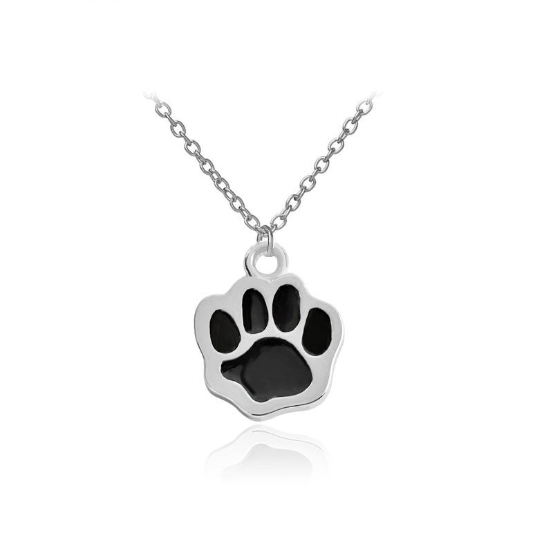 Dog Claw Pendant Necklace Women Colar Clavicle Color Silver Long Chain Necklaces Jewelry Gift Choker Necklace