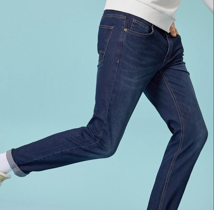 3d435b64c Compre Pantalones Vaqueros De Moda Para Hombre Pantalones Slim Fit Pantalones  Vaqueros Clásicos Denim Masculino Pantalones De Diseñador Pantalones  Delgados ...