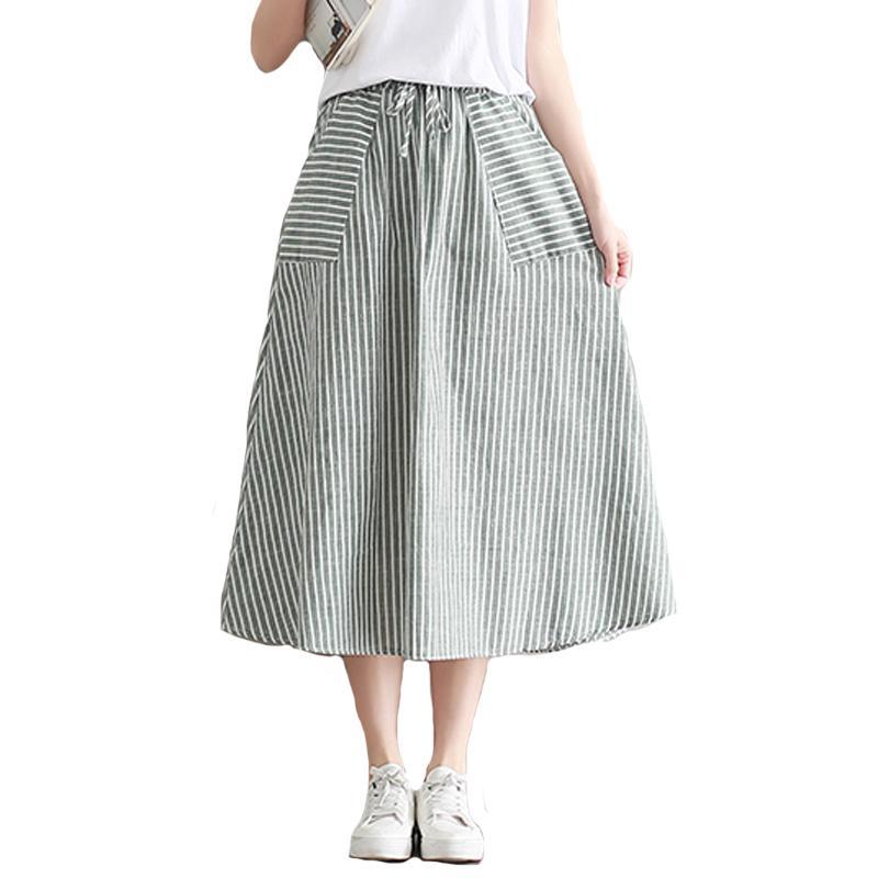 720c2c4ad1df Skirts Womens Summer Saia Women Midi Skirt With Pockets Japan Mori ...
