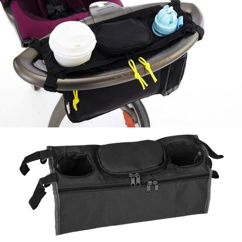 Hot-selling baby stroller to accommodate hanging bag rear-mounted tray hanging bag cup bottle mommy