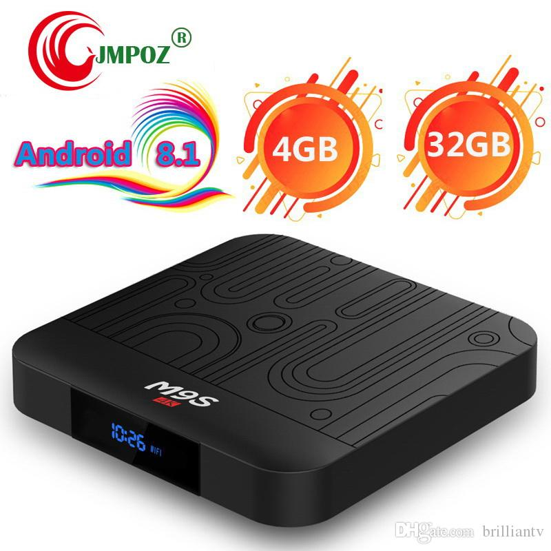 M9S J1 Android 8 1 TV Box Rockchip RK3328 4GB 32GB 1080P H 265 Google  Player Store Netflix Youtube 4K UHD video streaming Media Player