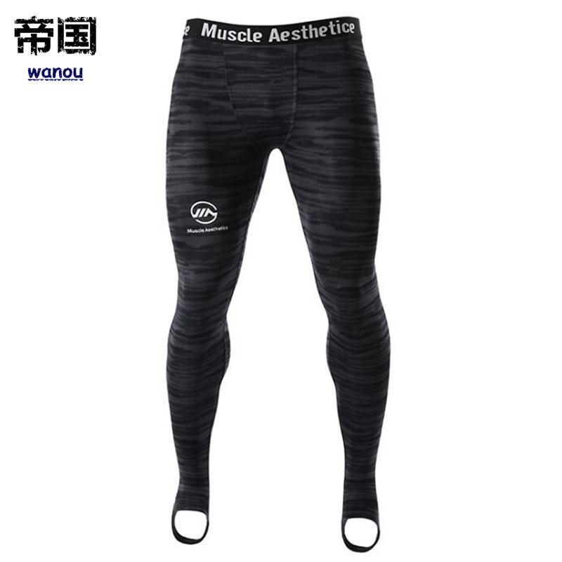ccca8fdd2b11 Acheter Collants De Compression Pour Hommes Leggings Run Sports Homme Gym  Pantalons De Fitness Pantalons À Séchage Rapide Séance D entraînement  Crossfit ...