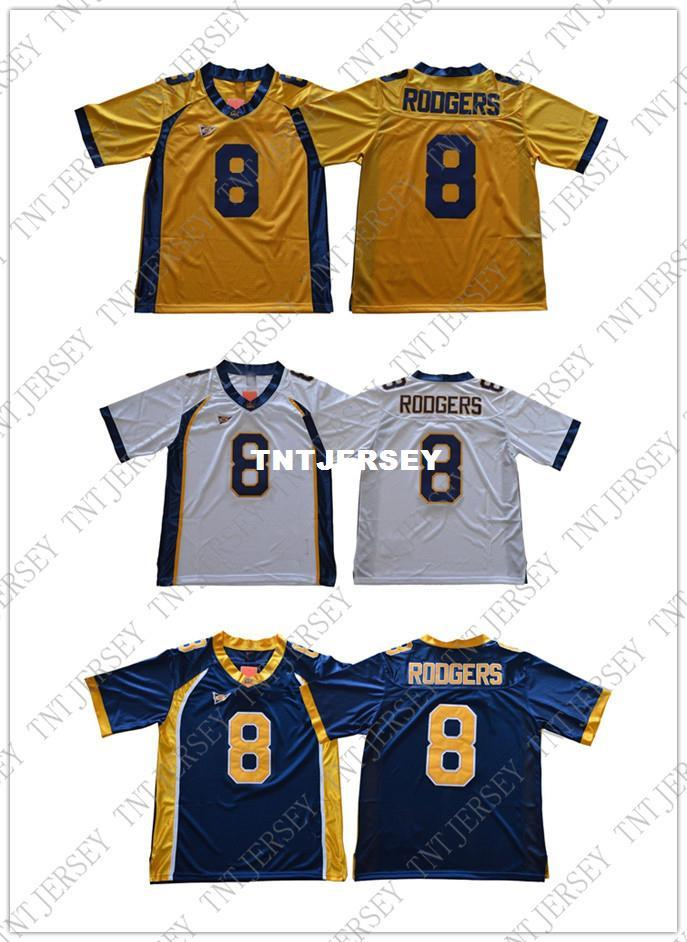 2c7b6c2b6 2019 Cheap Wholesale HOT Aaron Rodgers Jersey  8 California Golden Bears  Football Jersey Stitched High Quality From Tntjersey