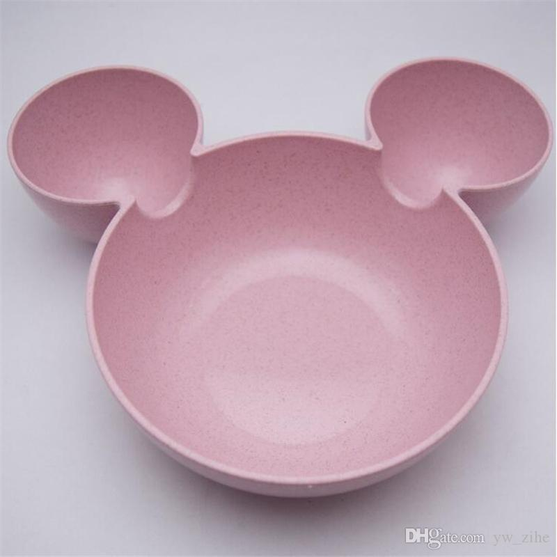 Kid Mickey Bowl Dishes Cartoon Mouse Lunch Box Kid Baby Children Infant Baby Rice Feeding Bowl Plastic Snack Plate Tableware wh0658