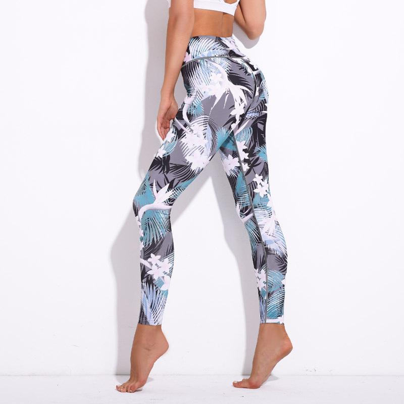 3679dd44b4fa3b 2019 2019 New Women Sportswear Sport Pants Printed Elastic Leggings Yoga  Trousers Running Tights Workout Gym Fitness Girl Outside Active Wear From  Tebrun, ...