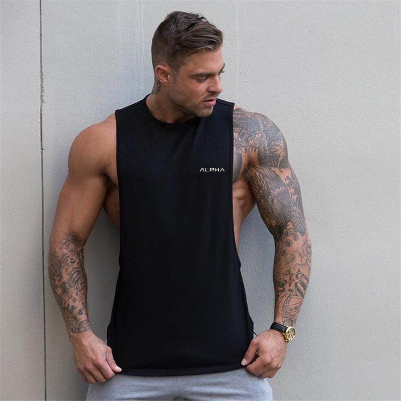 87a46985 2019 Summer Gyms Vest Men Fitness Bodybuilding Stringer Tank Tops Fashion Mens  Crossfit Clothing Loose Sleeveless Shirts T Shirts Designs Online T Shirt  ...