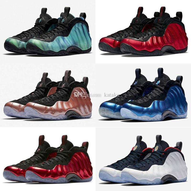 buy popular 5f724 08ae0 Mens Penny Hardaway Basketball Shoes Orange Black Gold Green Habanero Denim  Jeans Chrome White Posite Foams One Pro Sneakers Tennis Carmelo Anthony  Shoes ...