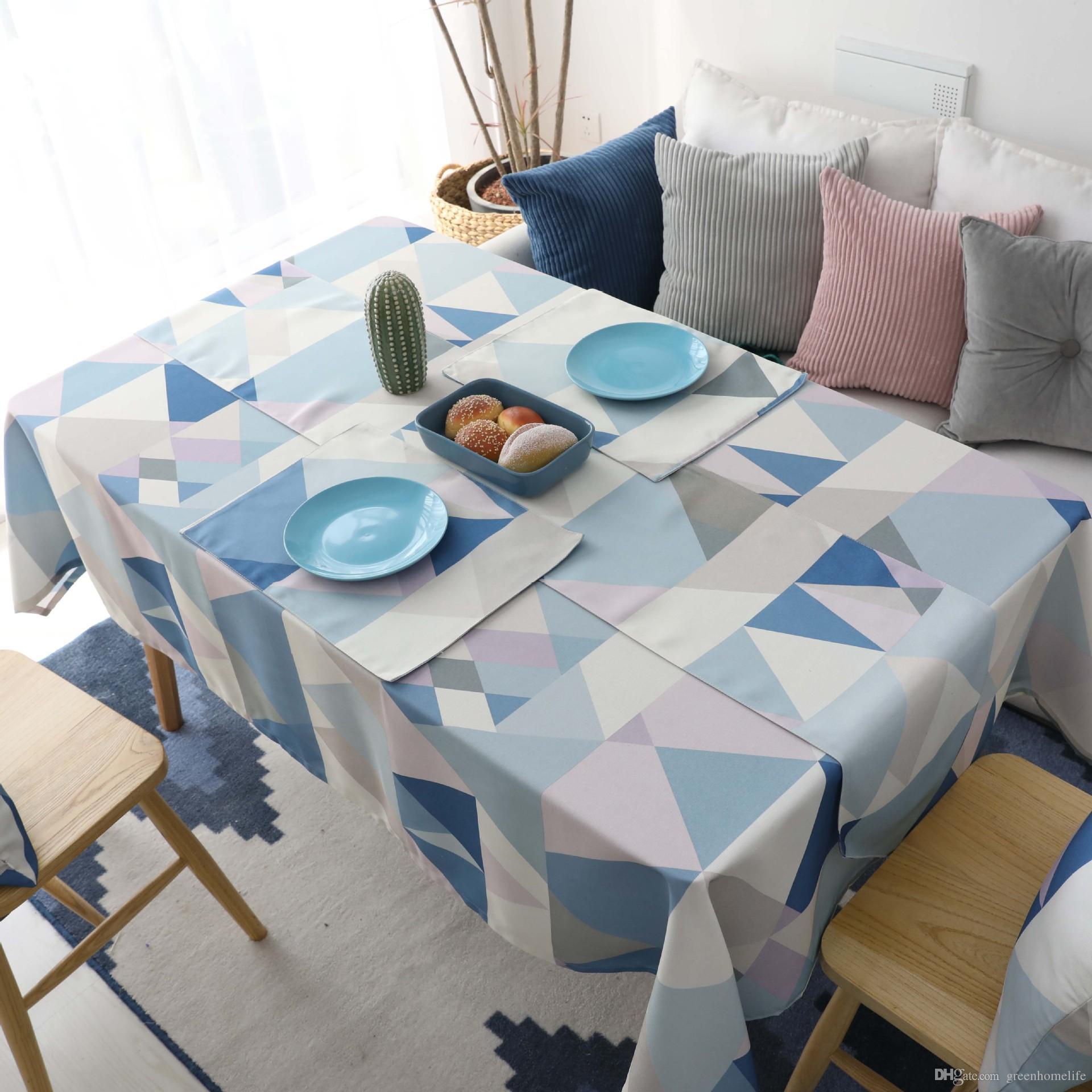 Rectangulaire Minimaliste À Imperméable Gratuite Nordique Table Basse Nappe Salon Salle Livraison Manger Couverture Ib6gYvf7y