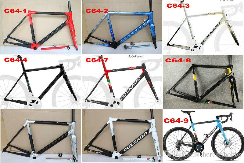 Colnago C64 Frame Road Bike Frame Carbon Bicycle Matte Glossy Carbon Road Frame 48cm 50mm 52cm 54cm 56cm Seven Bike Frames Kona Bike Frames From ...