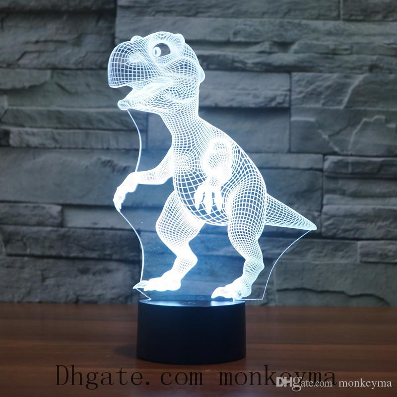 Acrylic Table Lamp Colorful Creative Touch Remote Control Lamp Energy Saving LED Night Light Fashion Animal Shape Lamp
