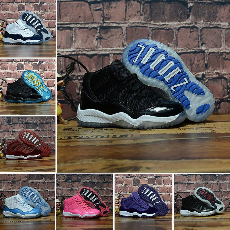 470245430f78c8 With Box Kids 11 11s Space Jam Bred Concord Gym Red Basketball Shoes  Children Boy Girls White Pink Midnight Navy Sports Sneakers Toddlers Wedges  Shoes Black ...