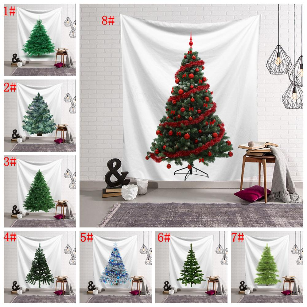 8styles Christmas Trees Tapestry Wall Hanging Mural Beach Towel Shawl Printed Yoga Mat Party Decoration Backdrops props 150*130CM FFA3208
