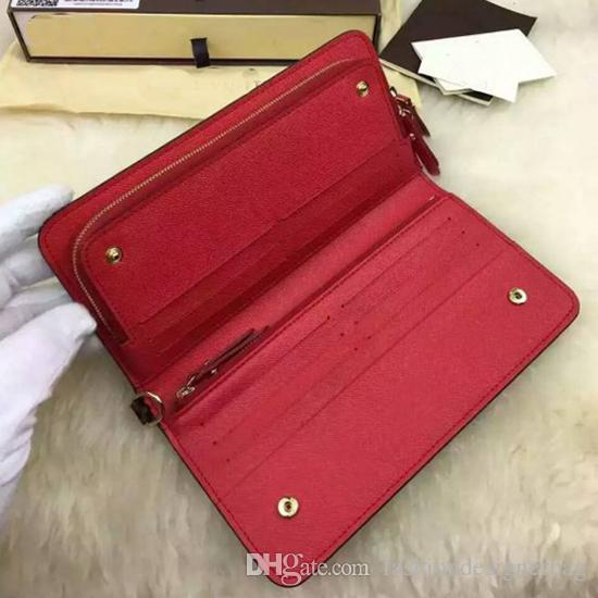 Amazing Quality Wholesale Designer Classic Brown Grid White Card Case Plus Cowhide Genuine Leather Double Zippy Opening Women's Chain Wallet