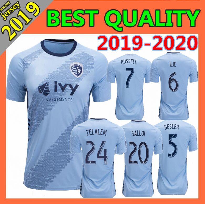 ce287135eba thai quality 2019 Sporting Kansas City soccer jersey home away 19 20 MLS  MEN S BESLER RUSSELL ilie ZUSI SALLOI ZELALEM football shirt