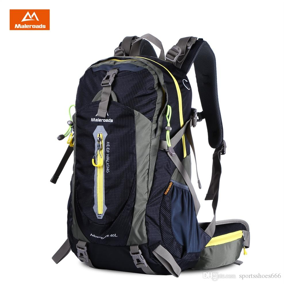 8c829847c94 Maleroads 40L Nylon Outdoor Bags Waterproof Backpack Climbing ...