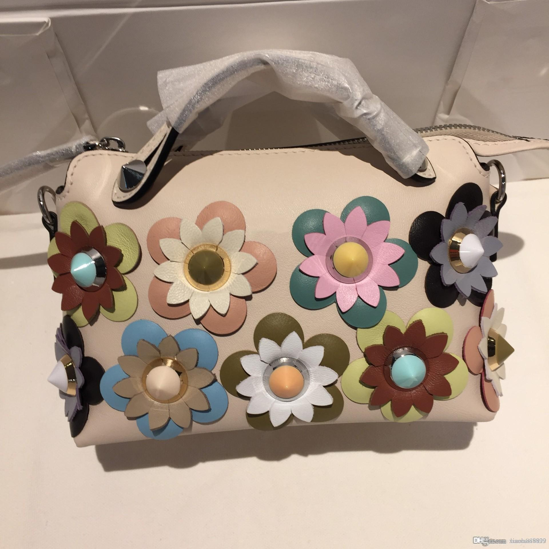 36f025c416e BEST A+Quality by the way flower purses Women Genuine leather handbag  Ladies Hand Bags tote calfskin Messenger Shoulder Crossbody Bag