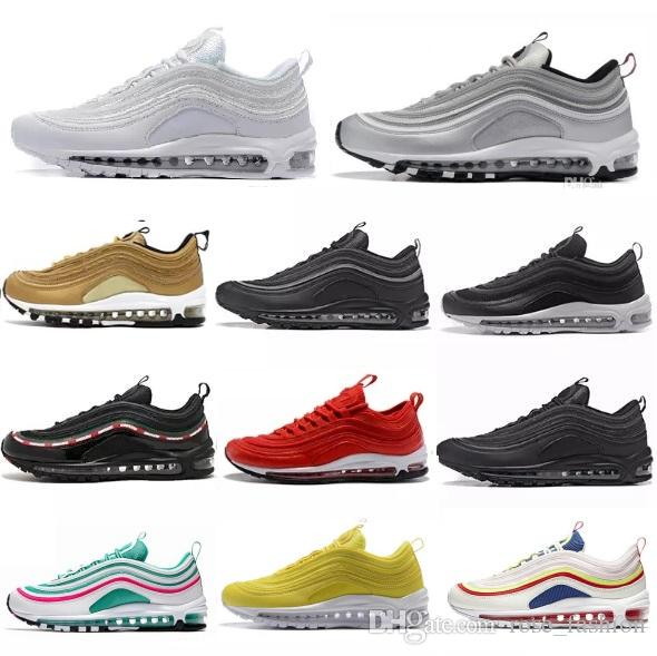 489c743332aa8a 97 OG Michigan Running Shoes Triple Black Metallic Gold Silver Bullet WHITE  3M Premium Sport Trainers South Beach MUSTARD 97s SE Men Sneaker Running  Shoes ...