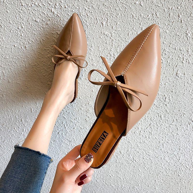 new concept a7bb3 83f91 Frauen Sommer High Heels Hausschuhe Pantoffeln Damen Älterer Stil Bogen  Außerhalb Schuhe Frau Mode Schuhe Alias Femeninas