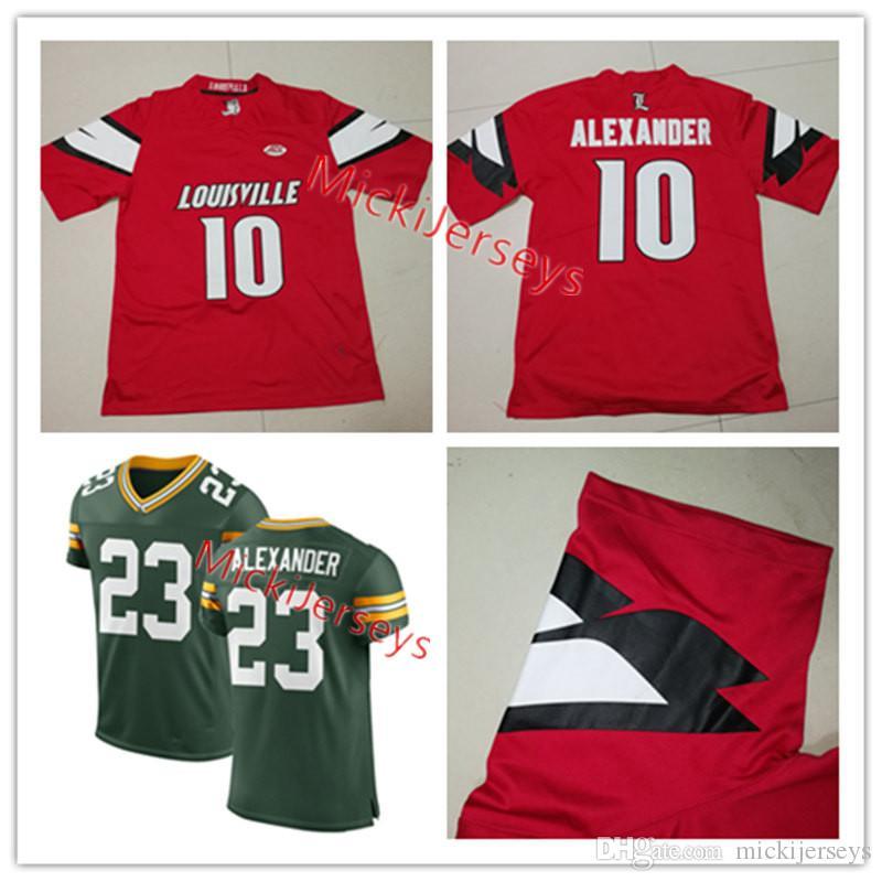 8f2d95716 Satın Al Erkek Kırmızı NCAA   10 Jaire Alexander Louisville Cardinals  KOLEJI Futbol Forması Dikişli Yeşil Elite   23 Jaire Alexander Formalar S  3XL