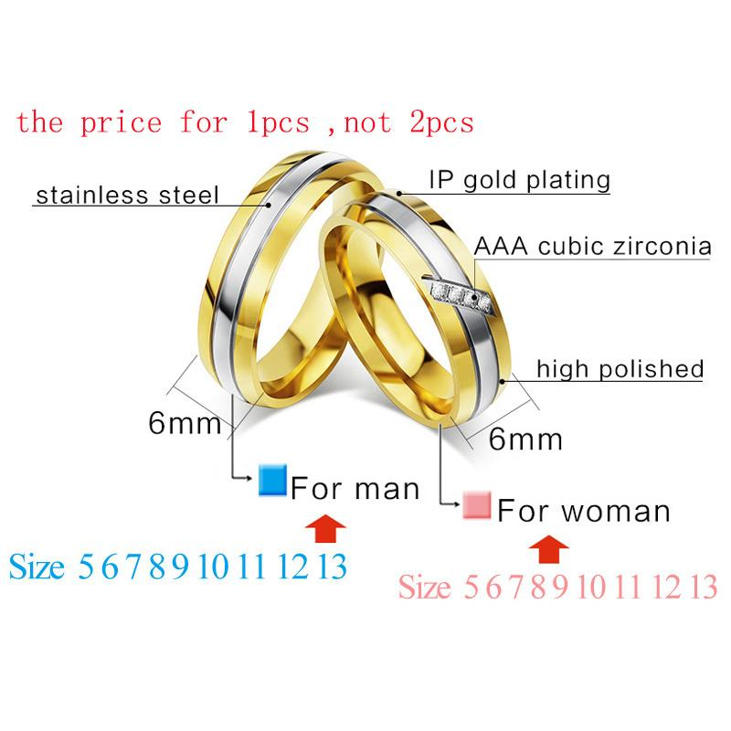 340e50900a 2019 Fashion Jewelry Meaeguet Gold Color Stainless Steel Unique Wedding  Rings For Lover'S Cubic Zirconia Couple Rings Engagement Jewelry From  Feng112, ...