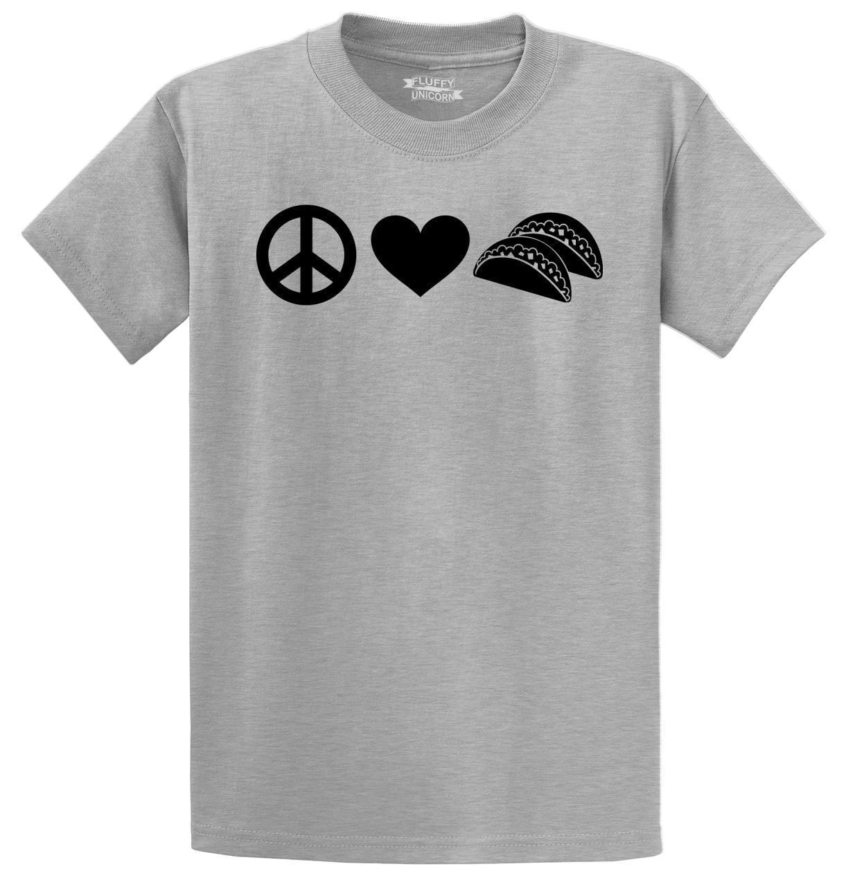 802bcc7f Mens Peace Love Tacos T Shirt Food Party Hippie Shirt Men Women Unisex  Fashion Tshirt Printing Tee Shirts Cool Funny T Shirts From  Designprinttshirts05, ...