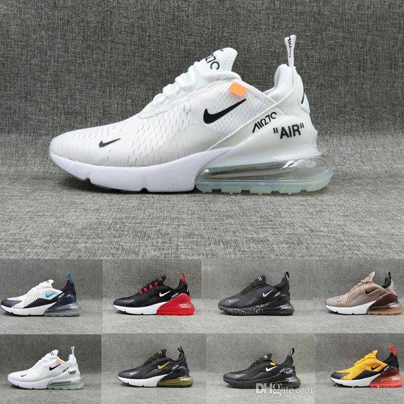 wholesale dealer 2f202 b8611 Air Max 270 Parra Punch Photo Blue Mens Women Running Shoes Triple White  University Red Olive Volt Habanero 27C Flair 270s Sneakers 36-45