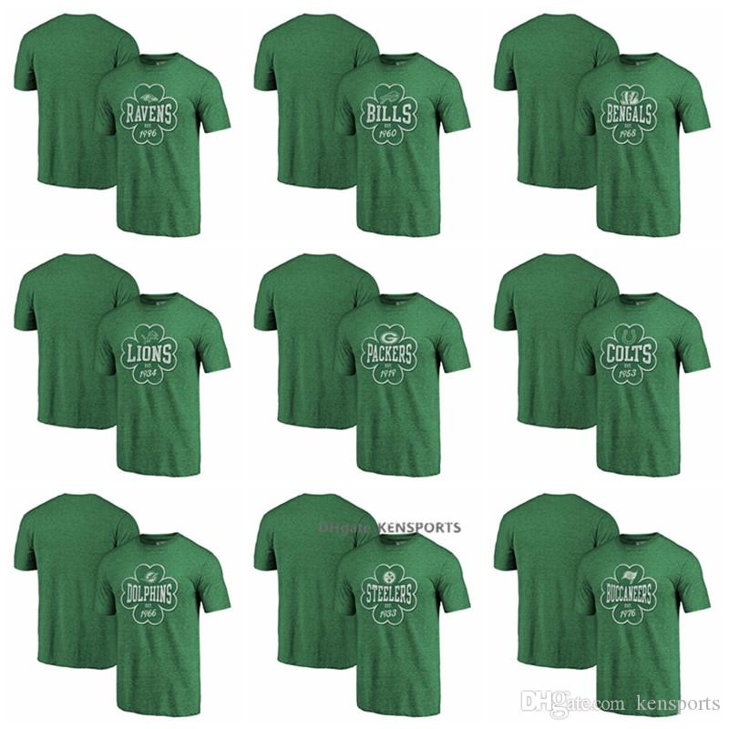 Buccaneers Ravens Cincinnati Bengals Green Bay Packers Dolphins Pittsburgh  Steelers by Fanatics Kelly Green Emerald Isle Tri-Blend T-shirt New Shorts  New ... 841addac43357