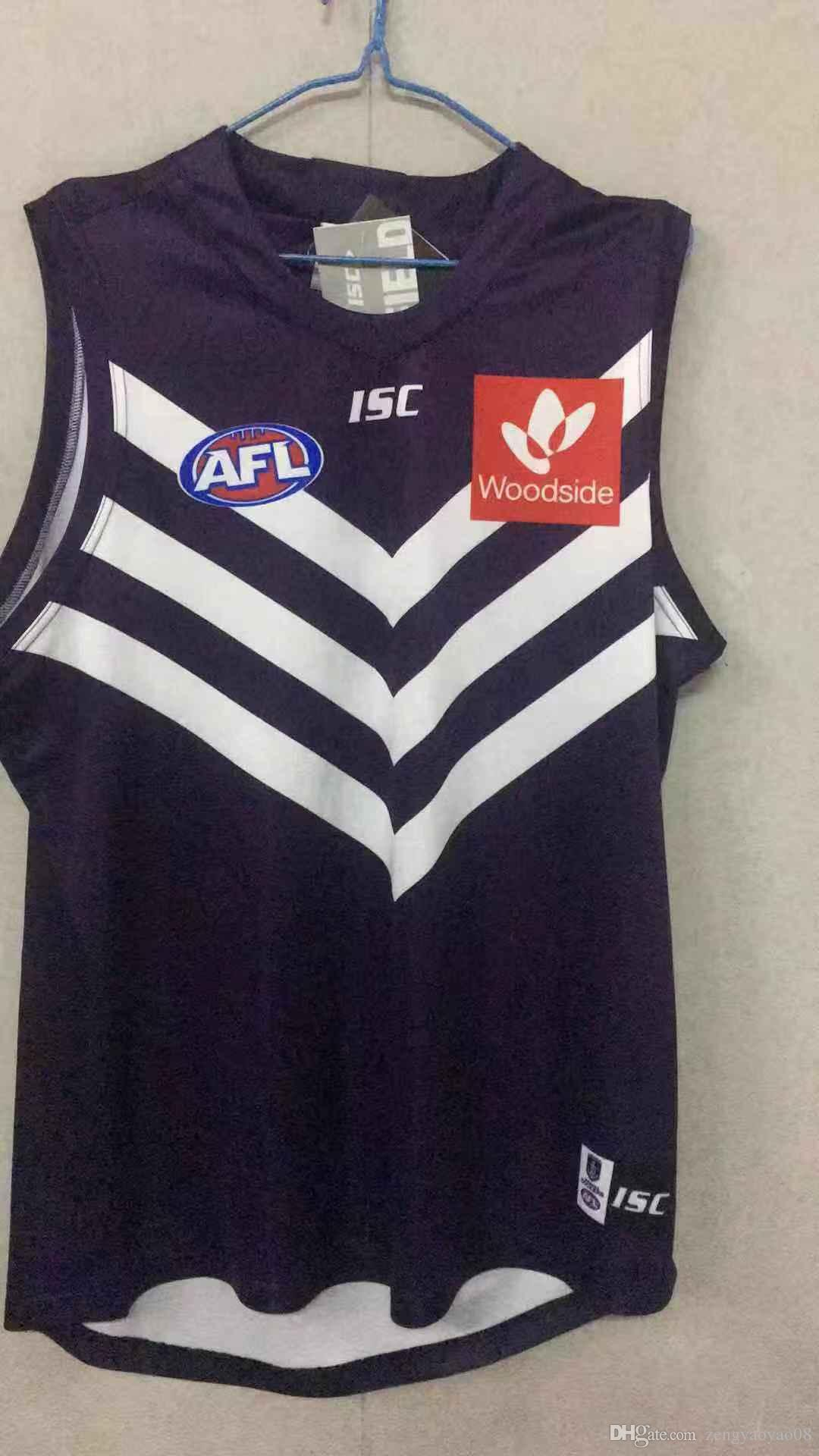 2019 FREMANTLE DOCKERS GUERNSEY West Coast Eagles Guernsey Adelaide Crows Collingwood Magpies casa Eddie Betts AFL tamanho Camisa S-3XL