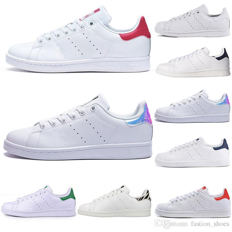 7128535d7b Compre Adidas Stan Smith Superstar Zapatos Moda Zapatillas De Deporte Hombres  De Cuero De Las Mujeres Zapatillas De Deporte Para Correr Zapatillas  Clásicas ...