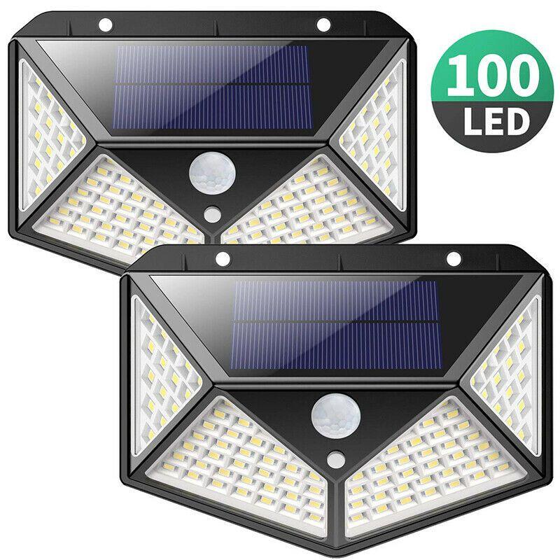 Security Light 100 LED parete esterna solare alimentato del sensore di movimento impermeabile
