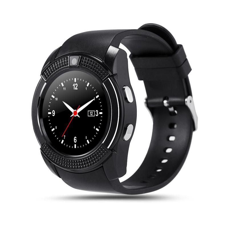 V8 Smart Watch Bluetooth Clock With Sim TF Card Slot suitable for ios Android Phone Smartwatch high quality wristband